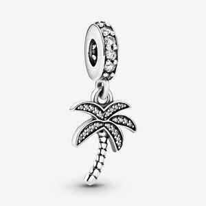 PANDORA Sparkling Palm Tree Dangle Charm Authentic